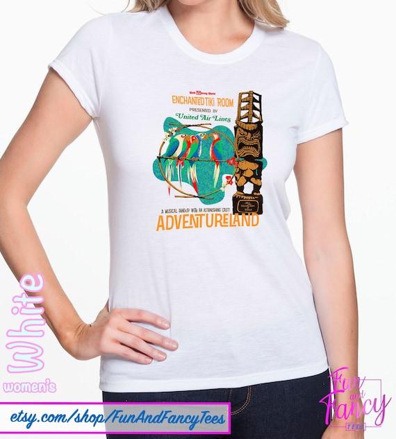 WDW Vintage Enchanted Tiki, Tiki, Tiki Room Poster T shirt!!