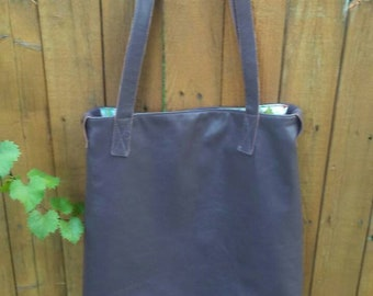 7ad0eeb9825a Dark brown real leather handbag