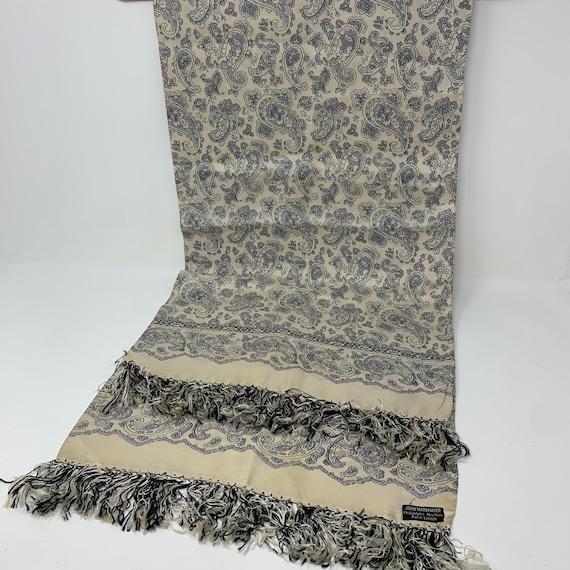 1940's John Wannamaker silk men's opera scarf. Can