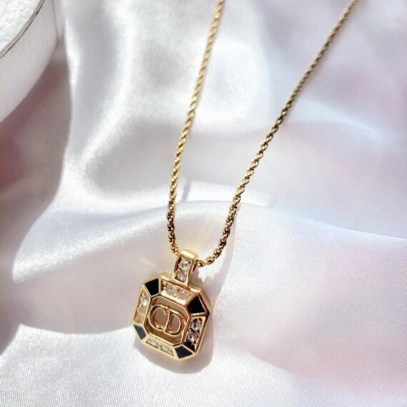 Dior vintage logo necklace, Dior jewelry, Vintage