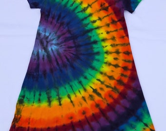 d97b09dc42692 Women's Rainbow Tie Dye Ribbed Cotton Dress