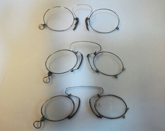 776e21b621e VINTAGE antique PINCE NEZ french sophisticat eyeglasses sunglasses  aristocratic victorian era menu readers antique spectacles eyeglasses