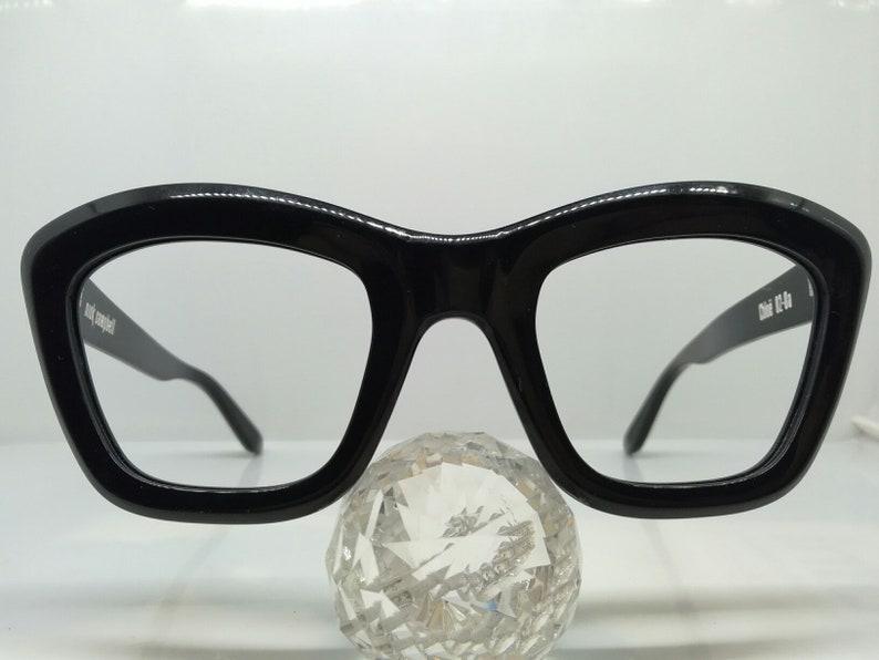 c6f448a779 VINTAGE NICK CAMPBELL australia mod chloe black eyeglasses hipster  rockabilly diva 90 s N.O.S new old stock hand made acetate