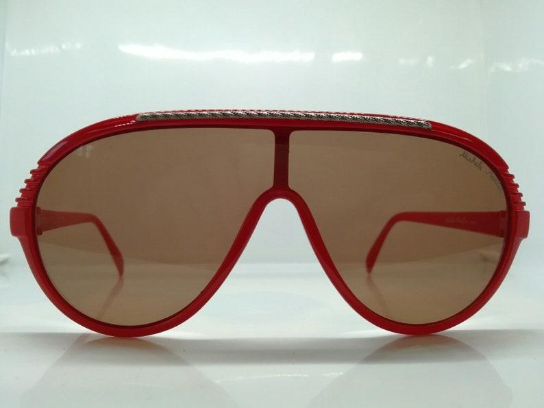 VINTAGE MICHELLE MARTIN vintage aviator eyeglasses sunglasses  old school aviator pilot new old stock N.O.S, france N.Y.C. playa red brown
