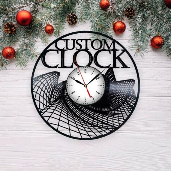 Custom Vinyl Clock Birthday Gift Couple Gift For Her Home