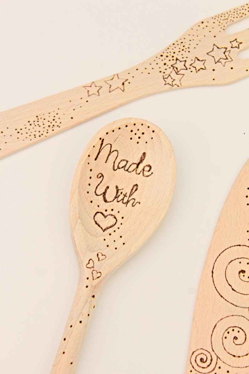 Wood burned spoons design templates/personalized wooden spoons/wood burning  patterns/pyrography wooden spoons