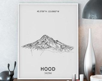 Mount Hood Poster Wall Art