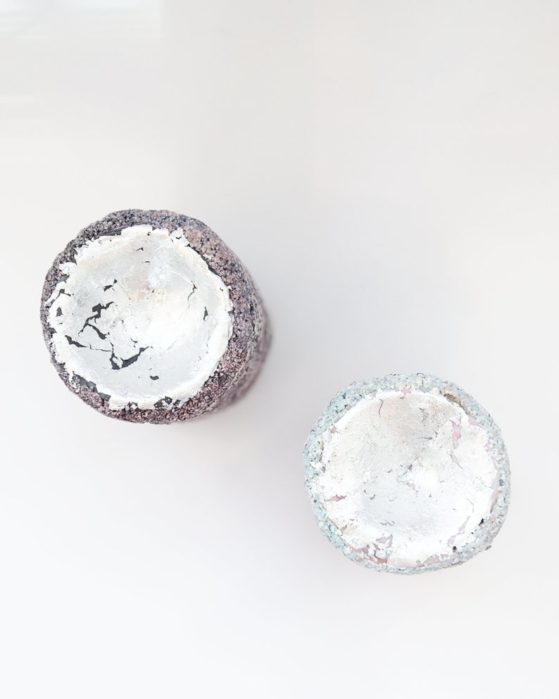 Ring cone Ring tree Terrazzo Wedding Ring holder Jewelry storage Men holder for him Christmas Gifts Jewelry display Silver Blue Set of 2