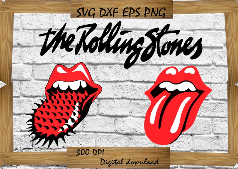 The Rolling Stones svg, Bands svg, Bands silhouette, Rock And Roll svg,  Music svg, Svg For Cricut, Svg For Silhouette, DXF, EPS, AI, Svg,Png