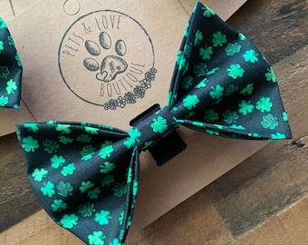 Dog Accessory Dog Bow Dog Lover Gift Pet Bow Tie Shamrock Bow St Shamrock Dog Bow Tie Patrick\u2019s Day Dog Bow Tie Shamrock Dog Bowtie