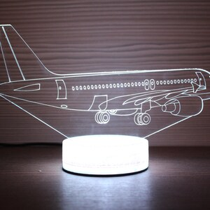 LLUUKK Visual 3D Night light Desk Lamp Plane Aircraft Airplain toys Table decoration household accessories Kids gift boys festival