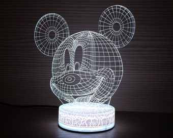Mickey mouse lampe | Etsy