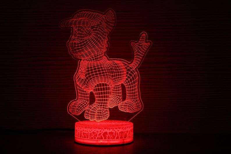 Gift 3d Kids For Him Shepherd Lamp Night Idea German Illusion Led Chase Paw Patrol Children Birthday Light wOPnXNZ8k0