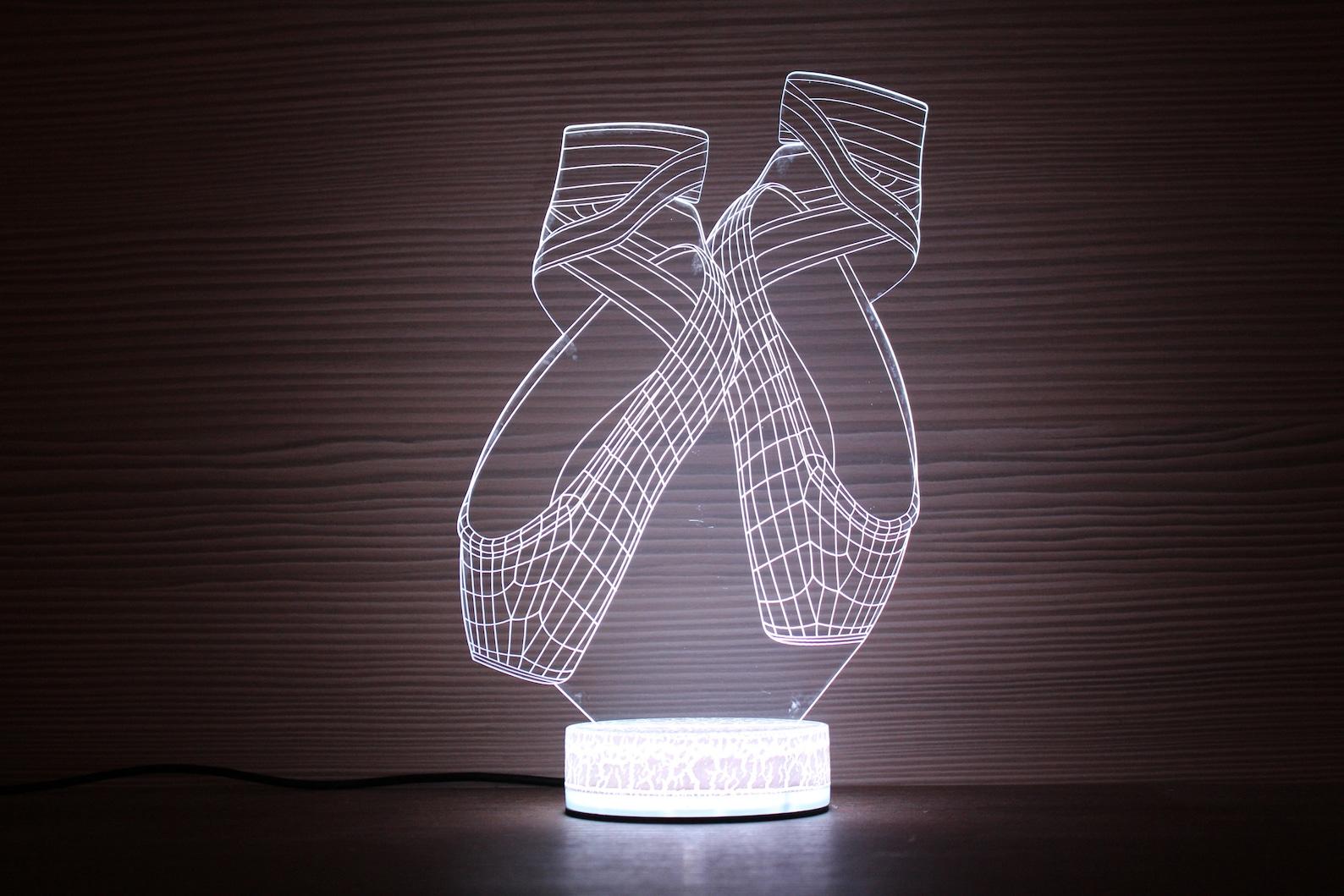 ballet shoes 3d night lamp night light children light 3d illusion led lamp ballerina birthday party gift idea kids birthday ball