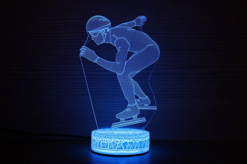 Regalo personalizzato Short Track Regali 3D Notte Lampada Luce TC83x2RB