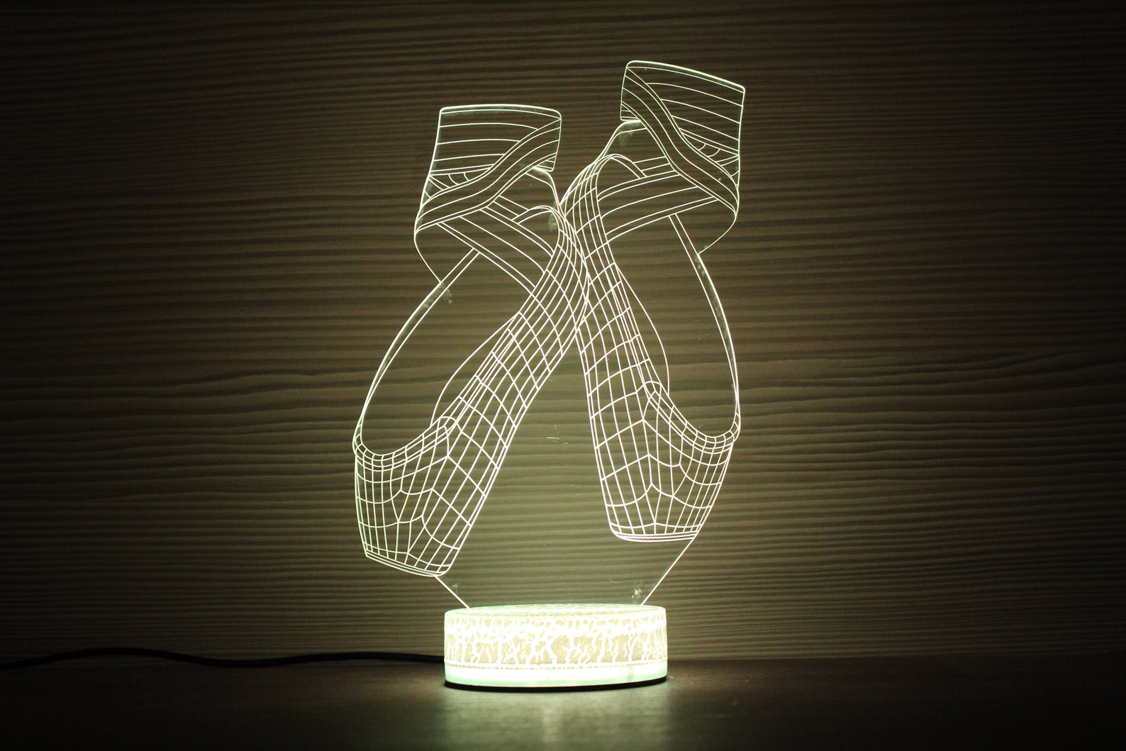 ballet shoes 3d night lamp night light children light 3d illusion led lamp ballerina birthday party gift idea kids birthday ball