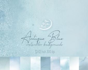 Blue Watercolor Etsy