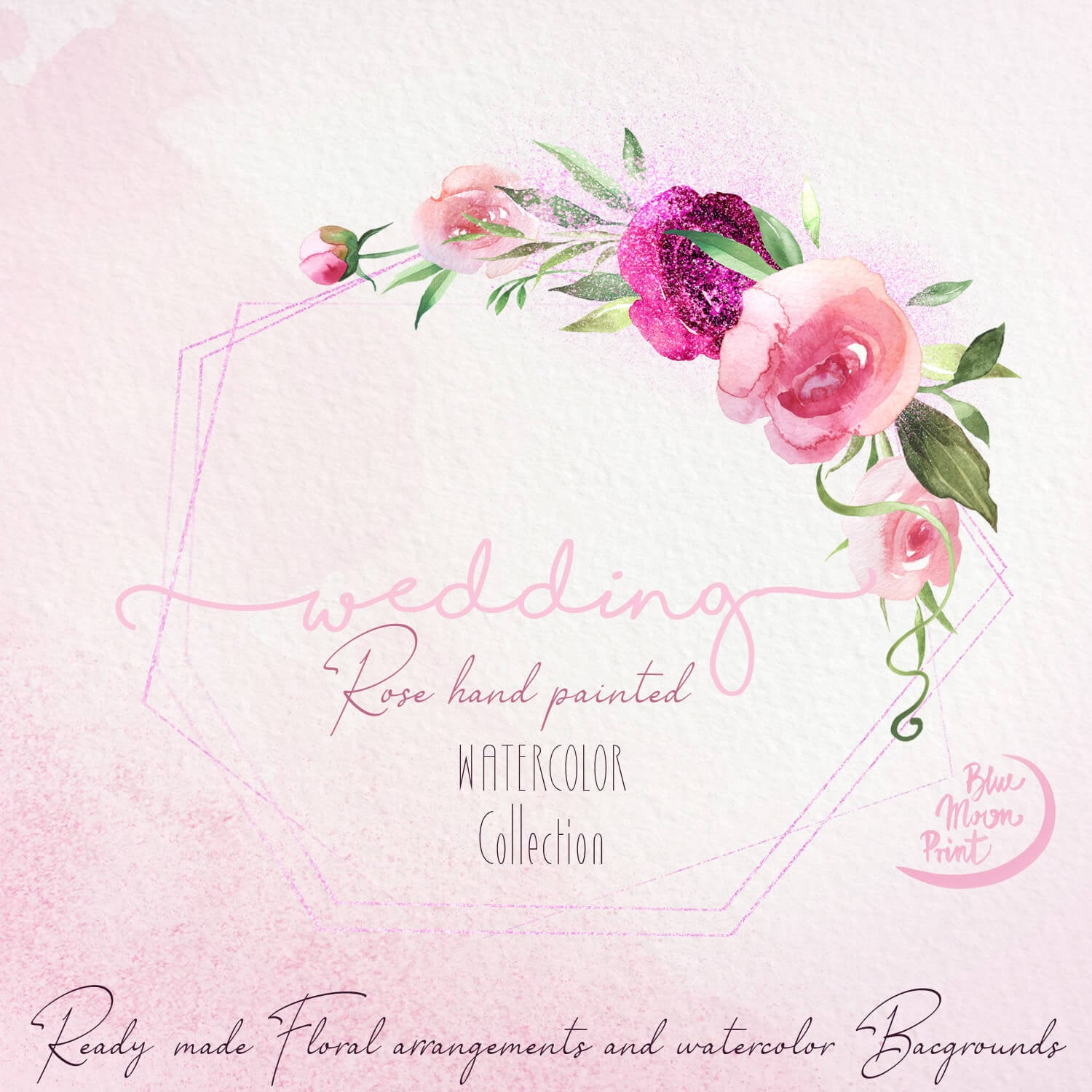 Wedding Floral Clipart Watercolor Ready Made Arrangements Etsy