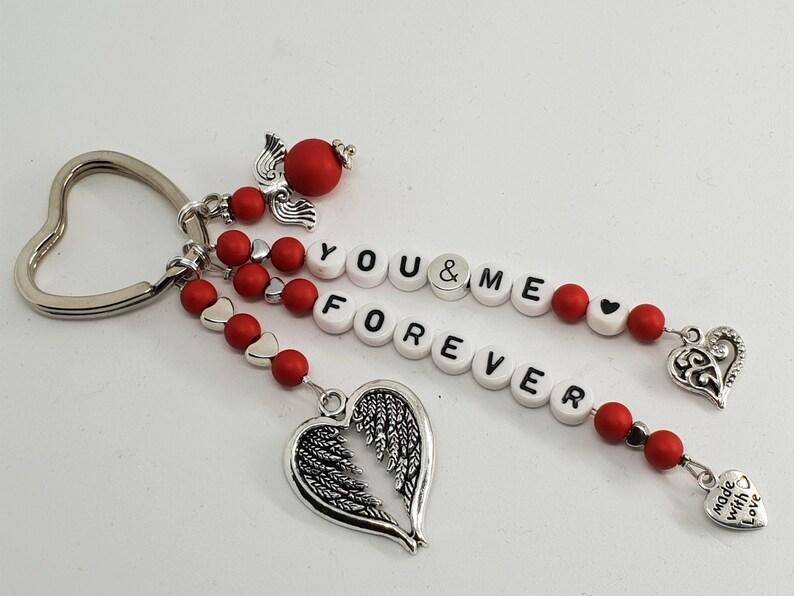 grau Geschenkidee weiß Herz türkis schwarz Schlüsselanhänger