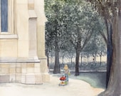 Art Print | Urban Sketch Votivpark | Watercolor | Giclée pressure