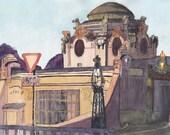 """Art print """"Otto Wagner Hofpavillon Hietzing, Vienna"""""""