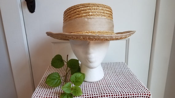 Straw Hat, Summer Hat, Stylish, Sophisticated Sum… - image 1