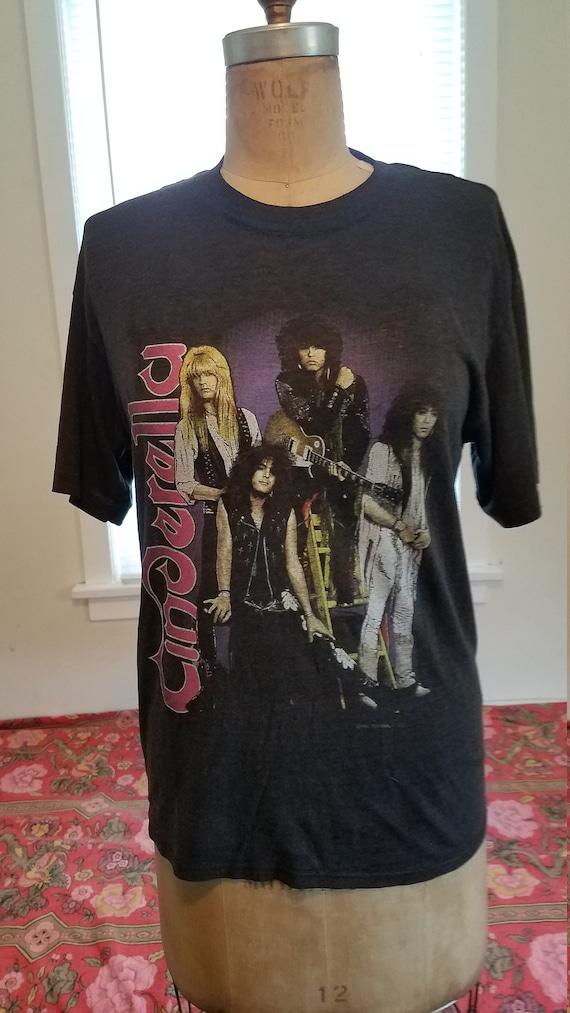 Vintage Cinderella Heavy Metal Tee Shirt 1980's Ro