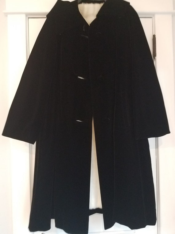 Opera Coat, Vintage coat , Coat, Black Velour Coat