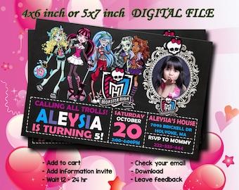 Monster High Invite Etsy