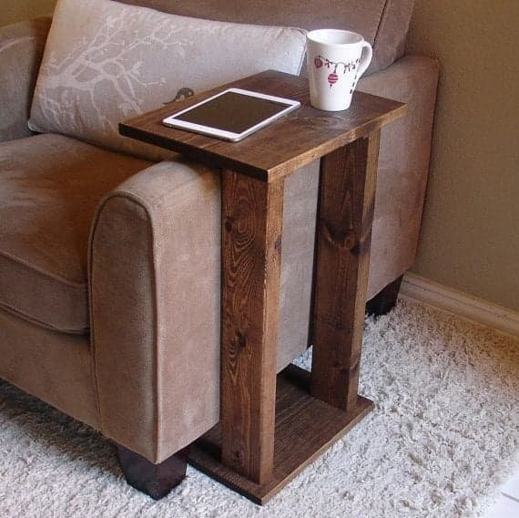 Surprising Solid Wood Narrow Sofa End Table Perfect For Centre Or End Of Sofa Andrewgaddart Wooden Chair Designs For Living Room Andrewgaddartcom