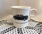 fiestaware mug white 1941 buick roadmaster decal car memorabilia