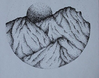 Pointillism Drawing Etsy