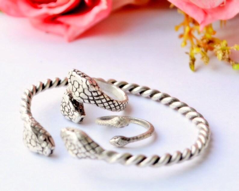 Snake cuff ring Python Cuff anaconda Bangle reptant Bangle Reptile Lizard Ring, Boa Bracelet king cobra ring wild animal Jewelry