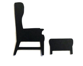 Table and 2 chairs die cut