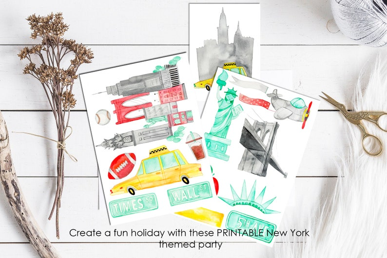 Printable Birthday Party Complete Package NYC