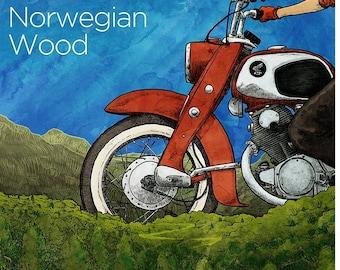 Norwegian Wood print - 12x17