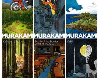 7 Haruki Murakami prints - 12x17