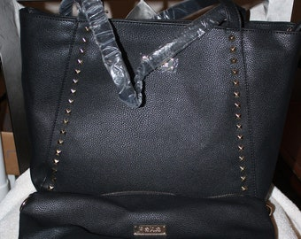 efeb1a3915 NEW Bebe Jane Studded Zip Tote and Black Insert