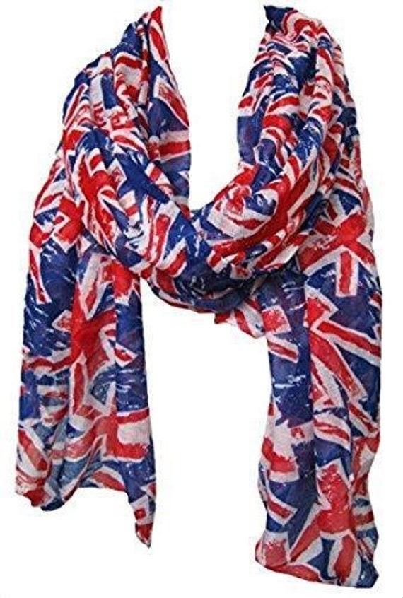 UK London Icons Scarf Union Jack Souvenir Gift English scarf Flag Wrap England