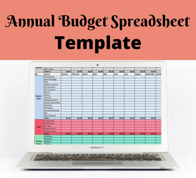 Annual Budget Template  Zero-Based Budget  Excel Download image 0