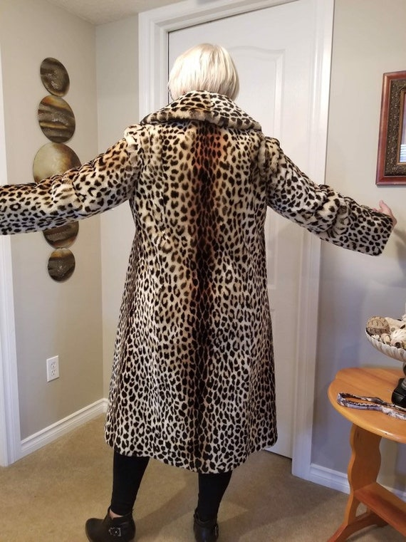 Luxury Leopard Faux Fur Coat