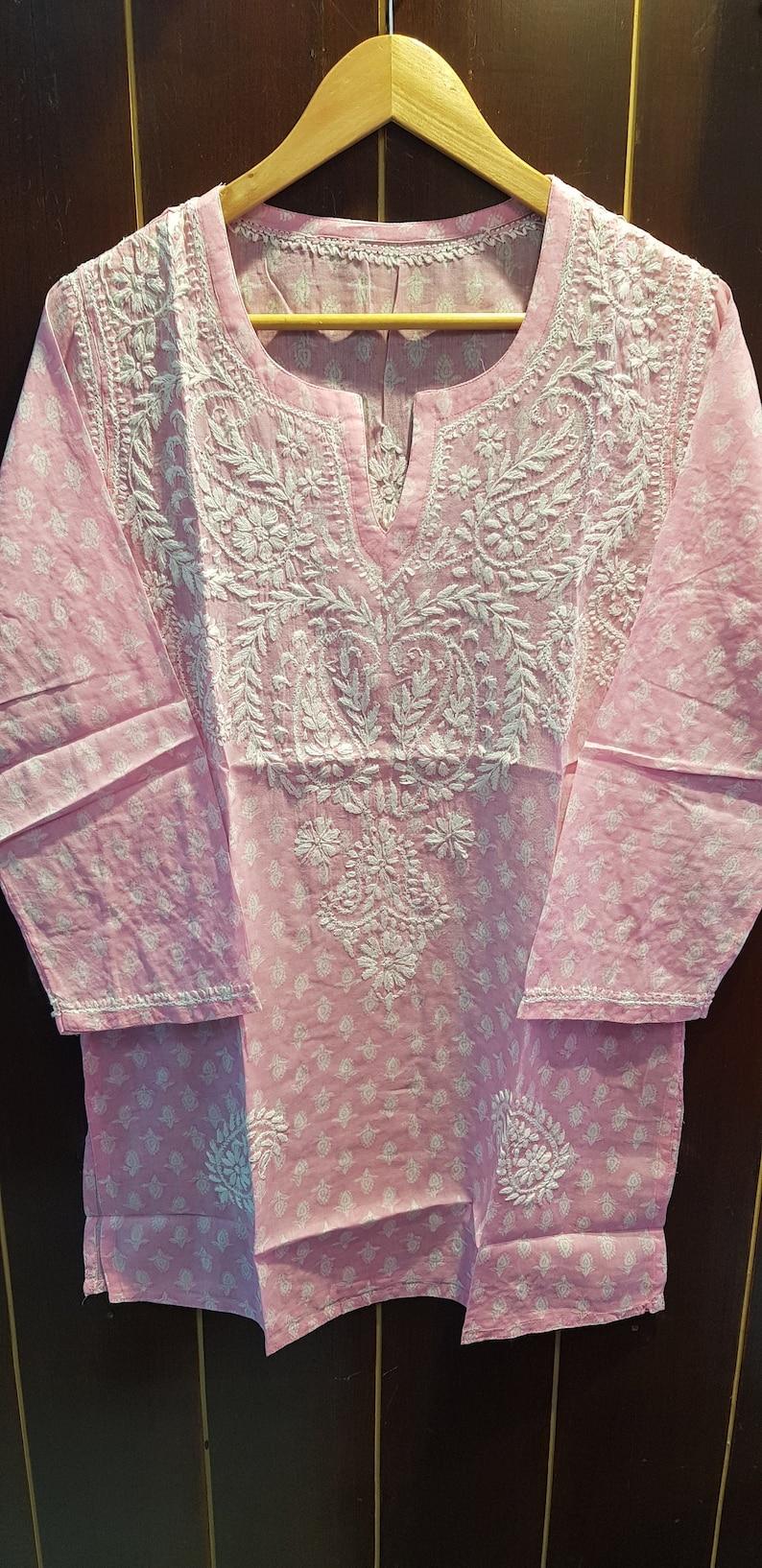 Mul Tunic Pink Butie Print