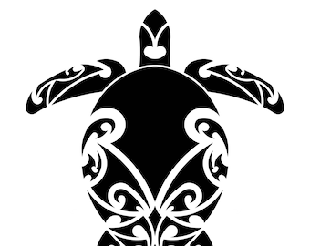 5772dd1a1 Tribal turtle tattoo   Etsy