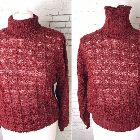 Ladies Red And Black Mohair Cardigan UK 12 Blue 17 Vintage Fashion