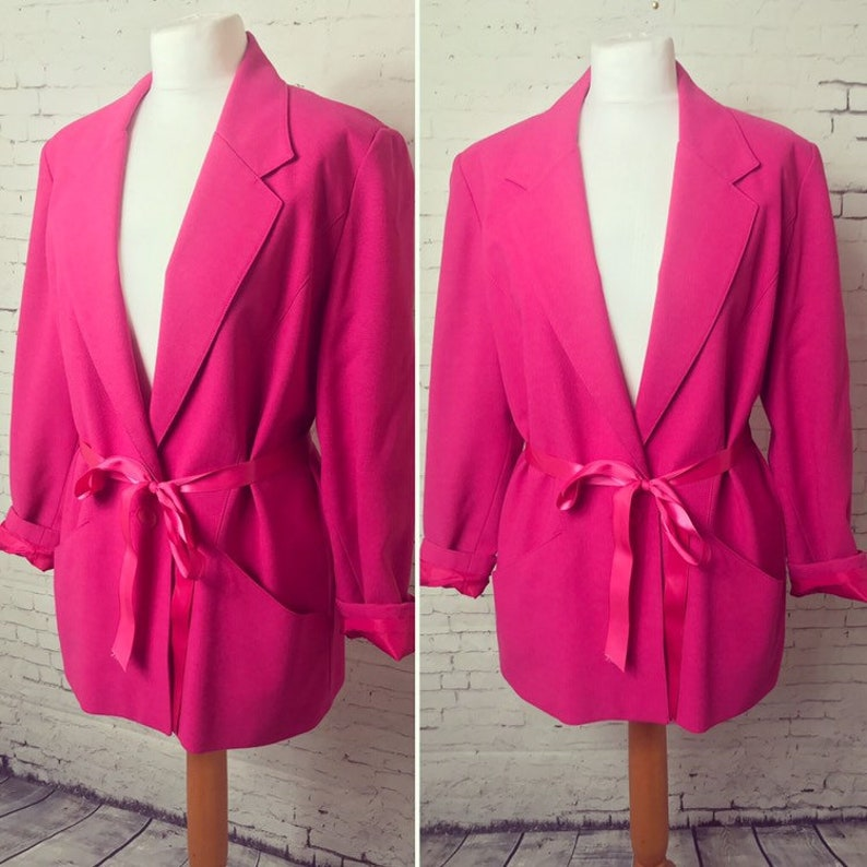 73f4a732a Hot pink vintage Jacques Vert Blazer Jacket size uk 6-12 | Etsy