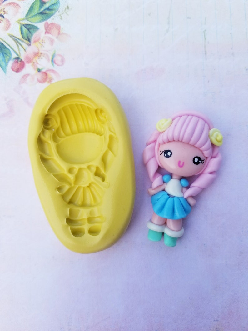 Princess theme silicone mould craft, girlie fimo cake decorating