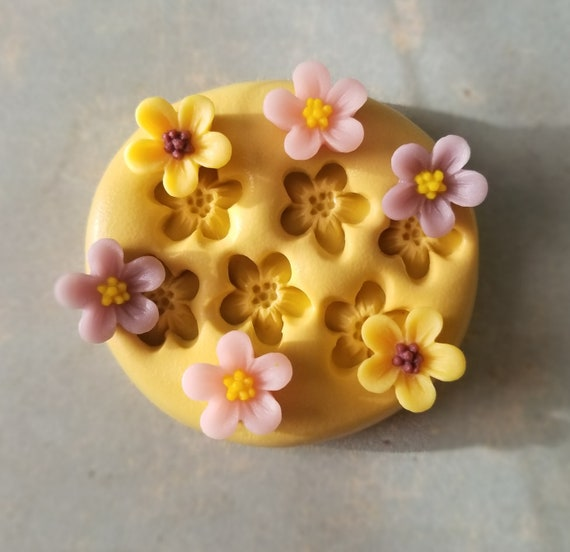 Roses in a basket mold flower charm fondant mints flexible silicone mold charm rose mold jewelry roses mold charms polymer clay resin