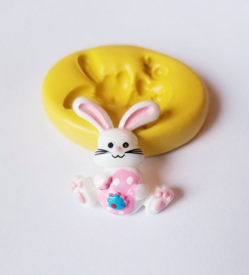 Bunny Mold fondant mints chocolate flexible silicone mold food grade resin polymer clay resin mold rabbit cabochon Easter mold