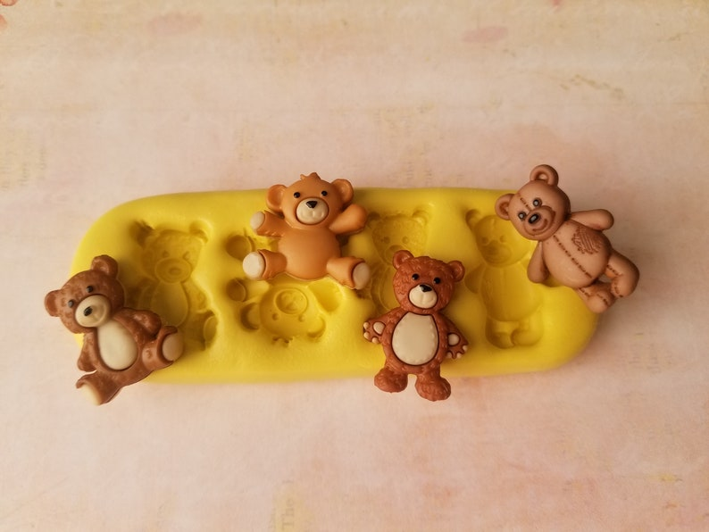 Bears Food safe mold  for fondant decorate your cake flexible silicone mold food grade oven safe for cakes molds for  mold