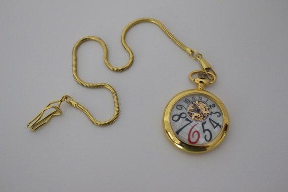Gold pocket watch, Pearl white pocket watch, Mecha